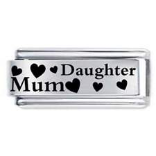 18mm Mum & Daughter Family * Daisy Charm Fits Nomination Classic Italian Charms