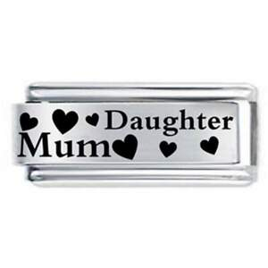 5e1f38797 18mm Mum & Daughter Family * Daisy Charm Fits Nomination Classic ...