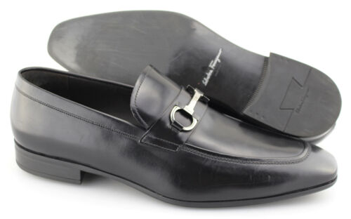 loafers zwart lederen ons Heren Salvatore maat Ferragamo 'dinamo' 112e 7yYbf6gv