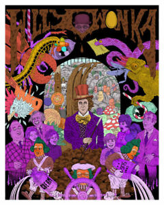 Willy Wonka Gene Wilder Art Print Ebay