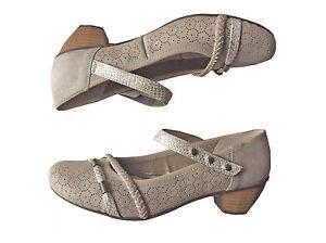 Details zu RIEKER Bequem Slipper Pumps Ballerina Slipper Damen Schuhe Creme 162014