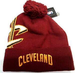 dd024218ccc Image is loading Cleveland-Cavaliers-Adidas-NBA-Knit-Hat-cuffed-pom