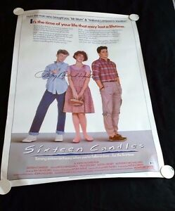 SIXTEEN-CANDLES-Original-27x41-Movie-Poster-Signed-by-Anthony-Michael-Hall-w-COA