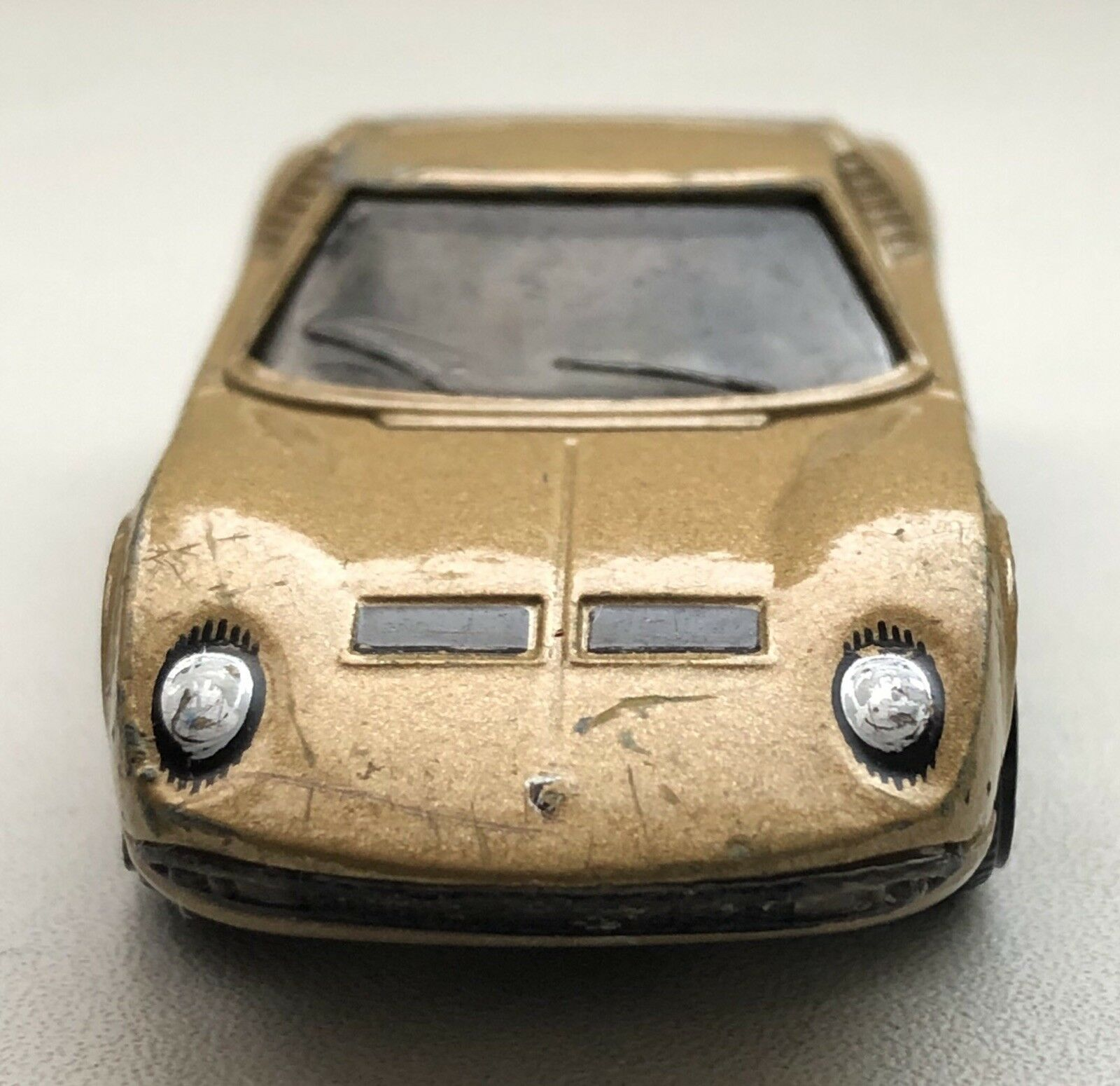 Matchbox Lamborghini Miura - rare gold base. Not Treasure Hunt or Redline