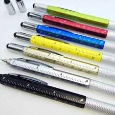 Pen Screwdriver Tool Level Scale Metal Multi-Function Ballpoint Gift Pen F1X4