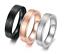 Anello-In-Acciaio-Unisex-Uomo-Donna-Numeri-Romani-Argento-Oro-Nero-Fedina-Fede miniatura 1