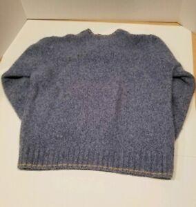 LL-Bean-Signature-Crew-Neck-Blue-Grey100-Merino-Wool-Sweater-Size-L-Men-039-s
