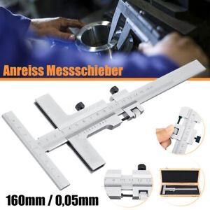 Anreiss-Messschieber-Streichmass-Anreiss-mit-Feststellschraube-Rostfrei-160mm