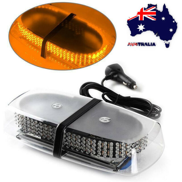 AU Car Truck Roof Top Magnetic Mount Oval Flashing Strobe Amber 240 LED Light