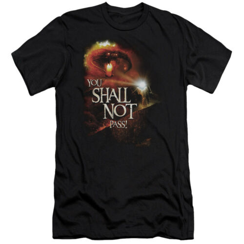 The Lord of The Rings Movie You Shall Not Pass Gandolf /& Balrog Adult T-Shirt