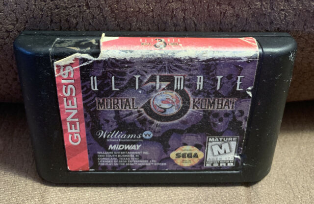 Ultimate Mortal Kombat 3 (Sega Genesis) Cart Only - Tested And Works!