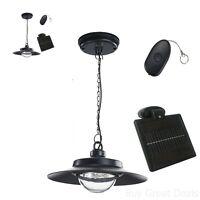 Solar Powered Hanging Light Led Natural Remote Indoor Adjustable Shed Patio Home