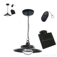 Solar Powered Hanging Light Led Natural Remote Indoor Adjustable Shed Patio Home