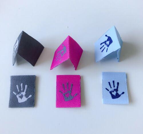 30 Handmade webetiketten Label sustancia Label Handmade alta Kant ajustados webband