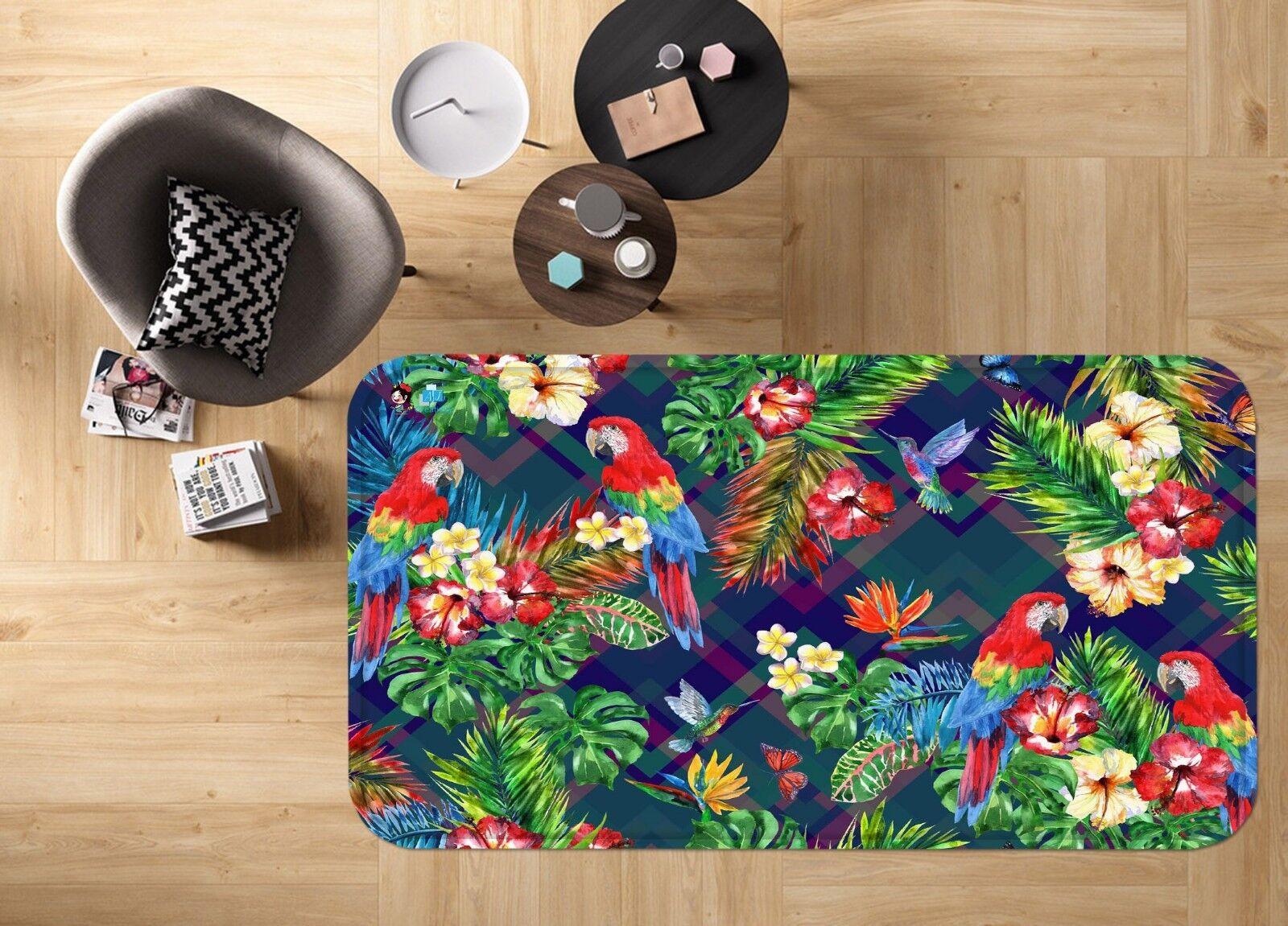 Tapis tapis 3D Parrot Jungle 683 antidérapant Qualité Tapis Photo élégant Royaume-Uni