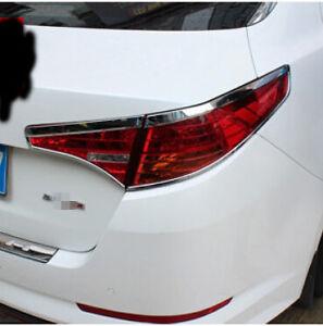 Abs Chrome Rear Tail Light Lamp Cover Trim 4pcs For Kia Optima K5
