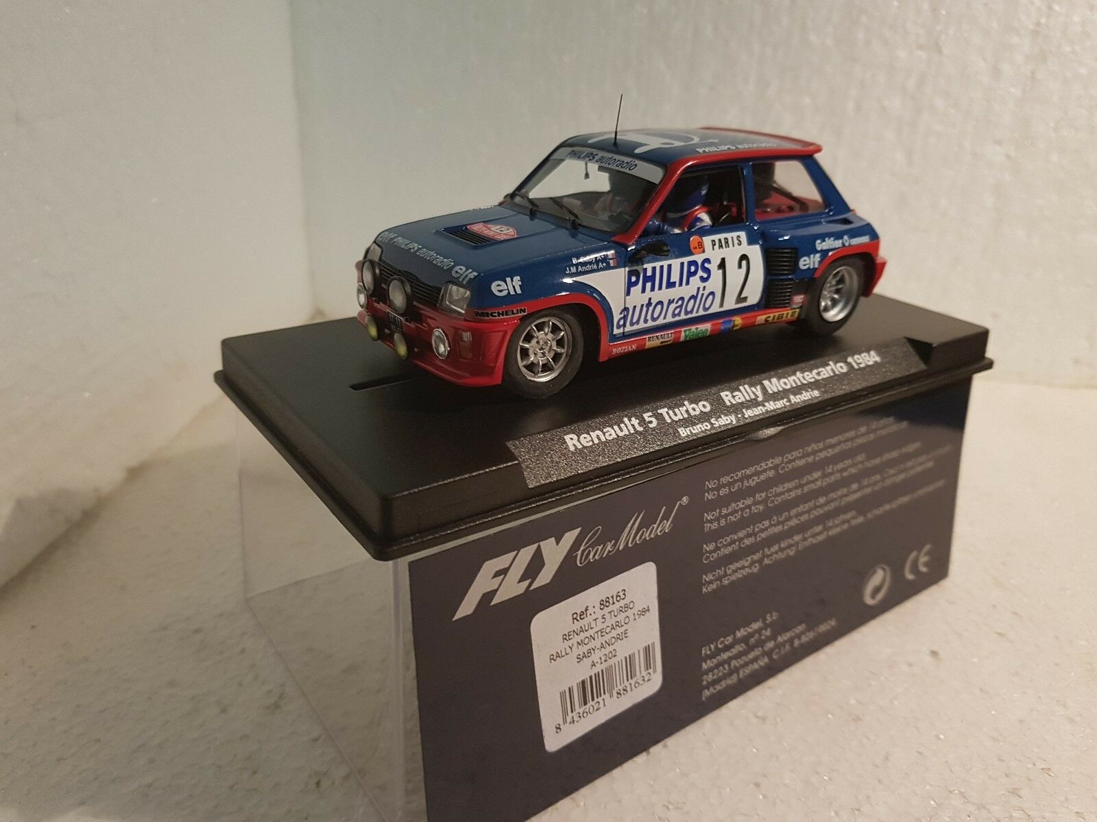 Qq 88163 A-1202 FLY RENAULT 5 TURBO RALLY MONTECARLO 1984  BRUNO SABY- JM ANDRIE