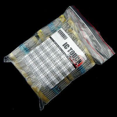 100value 1000pcs 1/2W Metal Film Resistor Assortment Kit