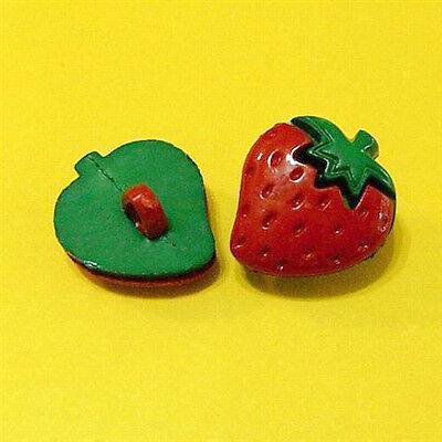 Hot! 15 Strawberry Food Fruit Crafting Sew On Buttons DIY Hair clip K511