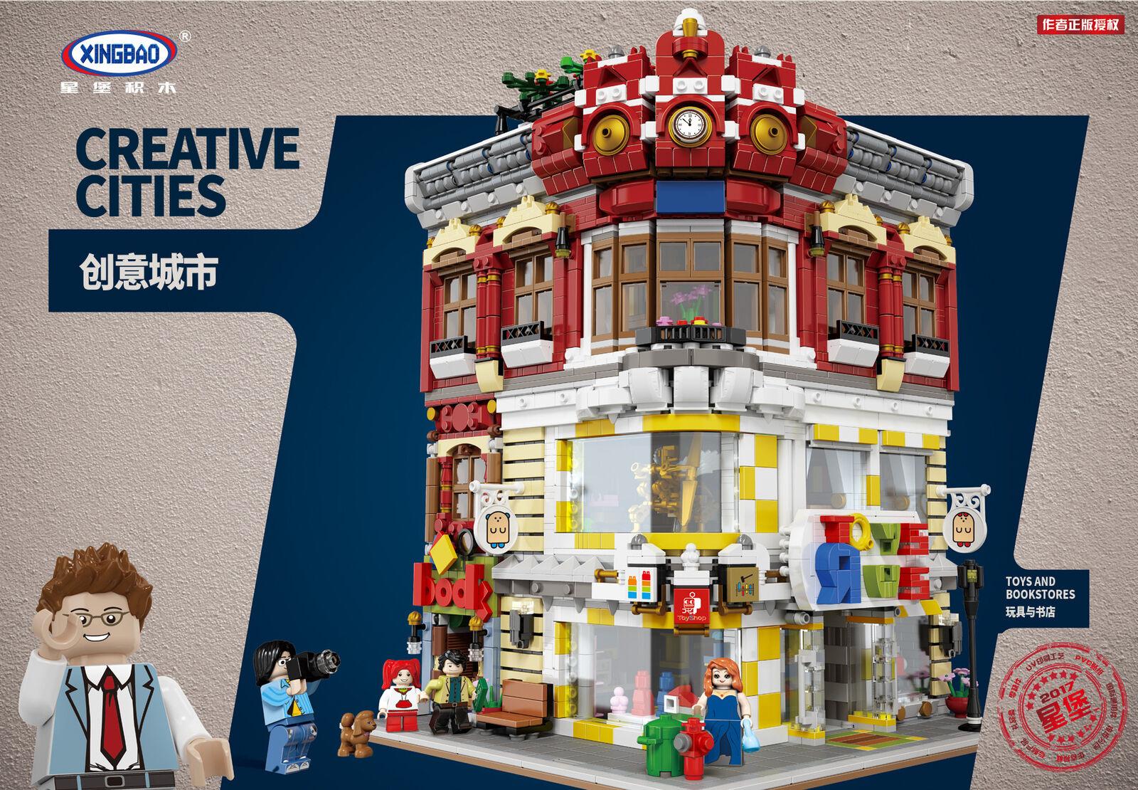 Xingbao Spielzeug Ostern Toystore Bookstore Bausteine Geschenke DIY 5491PCS
