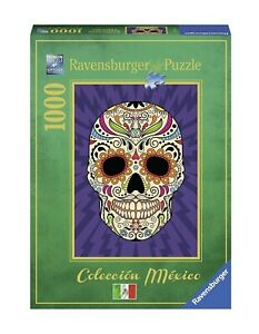 "NEW RAVENSBURGER Jigsaw Puzzle 1000 Pieces Tiles ""Calavera Mexicana"""