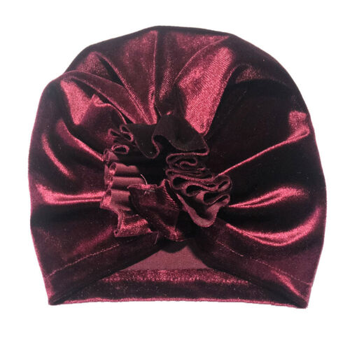 Newborn Baby Girl Boy Bow Knot Flower Cute India Cap Turban Head Wrap Beanie Hat