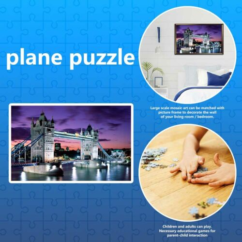 Puzzle DIY Paper Jigsaw Educational Reduce Stress Toys for Kids Adults Children