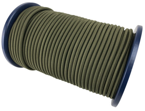 Tie Down Strong Bungee Rope Heavy Duty 12mm Elastic Shock Cord Olive Green