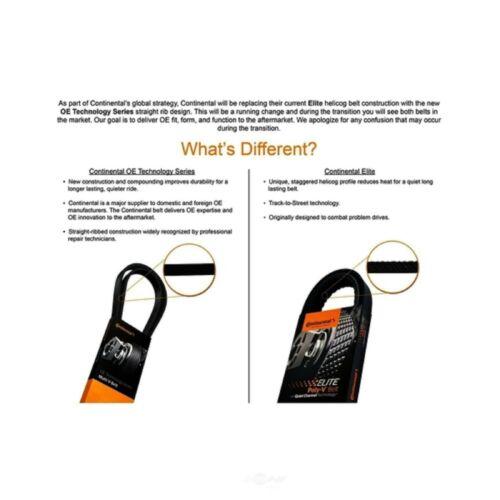 Serpentine Belt Accessory Drive Continental Elite GATORBACK 4060730