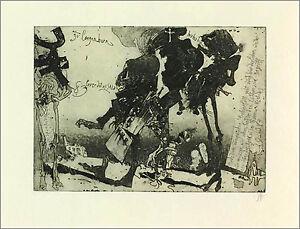 Horst-JANSSEN-034-Lever-Dot-AS-sklav-034-ORIGINAL-aguafuerte-1983-Autografiado