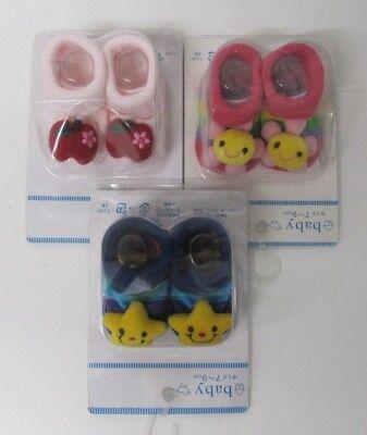 Baby Babyschühchen 3 Pair gemischt 0-3 Monat Mädchen Süß Socken Hausschuhe
