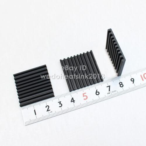 4pcs Black 28*28*3mm Aluminum Chip Heatsink Cooling For Ram IC Chip AMD Chipset