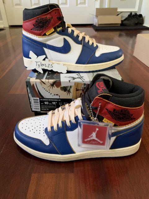 PADS Nike Air Jordan 1 Retro High OG Union LA Storm Blue Banned Bred Off White