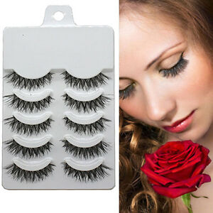 Beauty-Makeup-Handmade-Natural-Fashion-Long-False-Eyelashes-Eye-Lashes-Neu