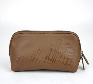 Image is loading New-Authentic-BOTTEGA-VENETA-Leather-Cosmetic-Case-Pouch- 6e1e2d790fdbc