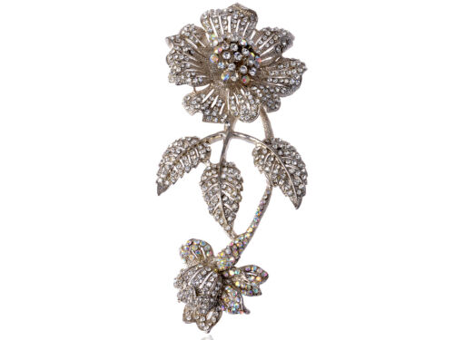 Bling Daisy Fleur Floral Cristal Strass Fashion Statement aguicheuse Broche