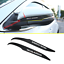 For Toyota Highlander 2015-19 Stainless Carbon Fiber Rearview Mirror Decor Trim