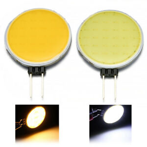 7W-Cool-Warm-White-G4-12V-AC-DC-Round-COB-Super-Bright-LED-Chip-Light-Lamp