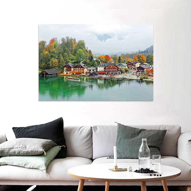 3D Schne Farbe  Haus Meer 856  Fototapeten Wandbild BildTapete AJSTORE DE Lemon