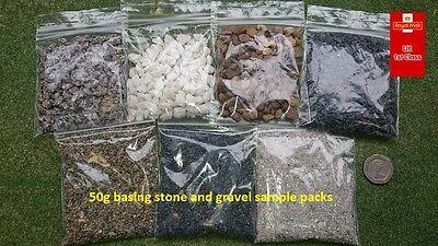 Basing Stone And Gravel Samples Multipack 7 x 50g Packs -Wargaming Modelling