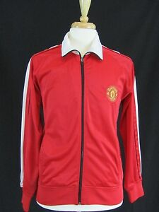 Mens-Manchester-United-Red-White-Jacket-Coat-Sz-L-Large