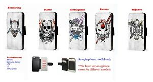 Suicide-squad-Inspired-leather-phone-case-boomerang-diablo-harleyquinn-for-HTC