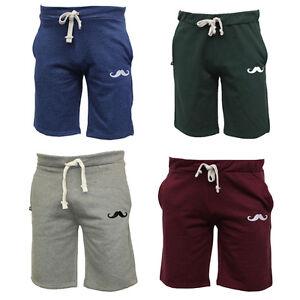 Brand-New-Moustache-Shorts-Plain-Mens-Casual-Cotton-Fleece-Pants-Small-to-2XL
