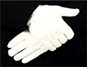 Parade-or-Funeral-White-Dress-Gloves-Cotton-Strech-Raised-Pointing