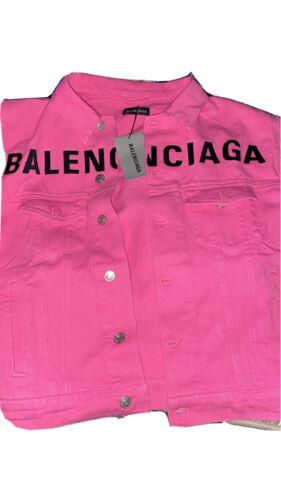 Balenciaga Front Logo Denim Jean Jacket Sz 46 (M)
