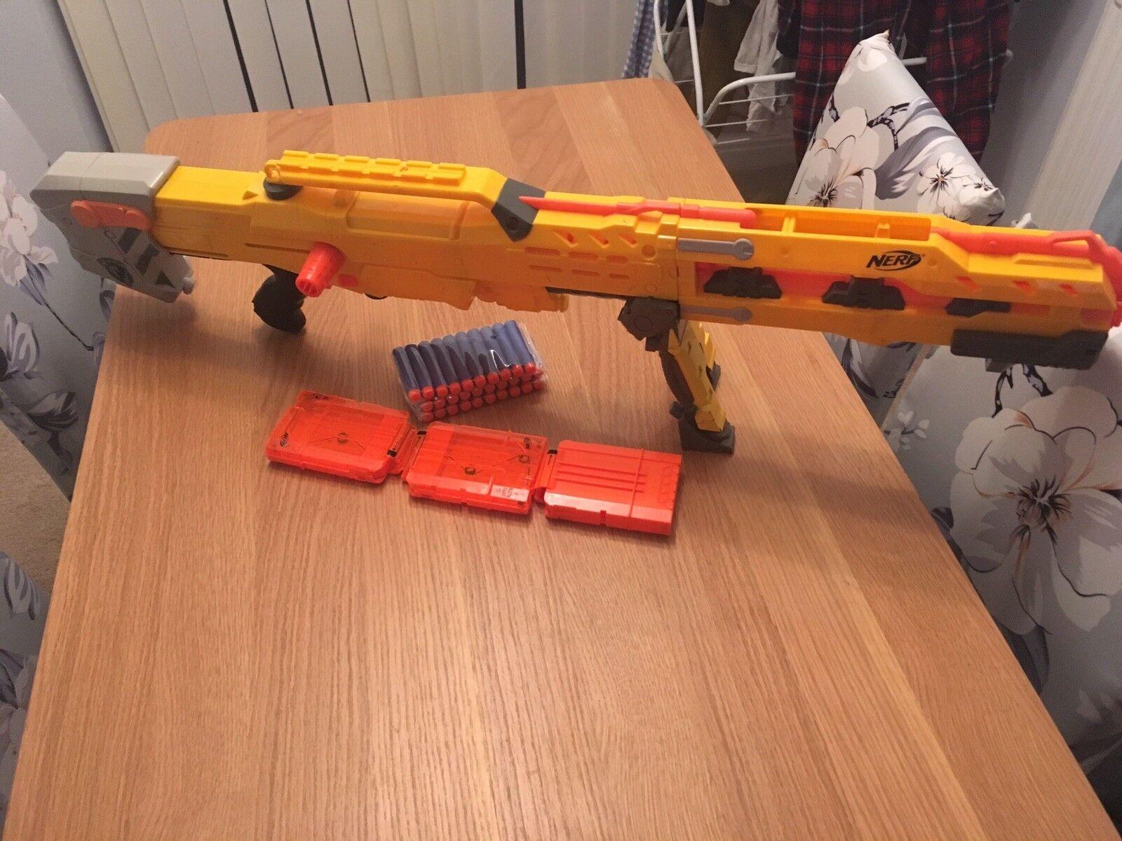NERF N-Strike Longshot CS-6 Blaster Gun & & & Ammo Bullets cc77a0