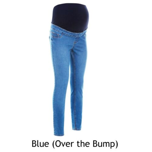 Maternity New Look Jeggings BLUE Jeans Over The Bump Sizes 8-16 BM62