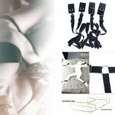 Under Bed Bondage Restraint System 4 x Handcuffs Straps Fetish Adult Sex Toy