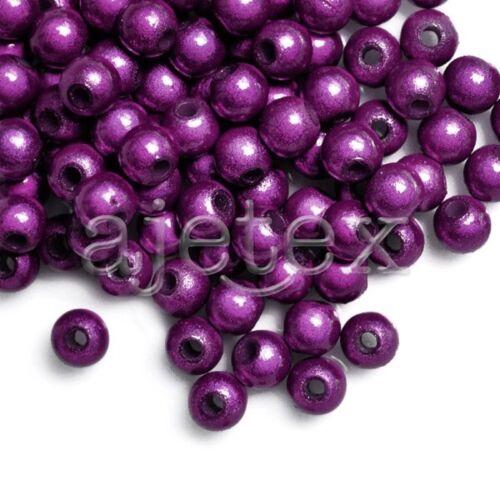 120pcs Acrylique Magiques Perles Miracle Illusion Beads 4x4x4mm Pourpre Foncé