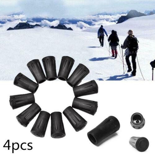 4pcs//set Rubber Tips Hiking Stick Walking Trekking Pole Protectors 4cm Long
